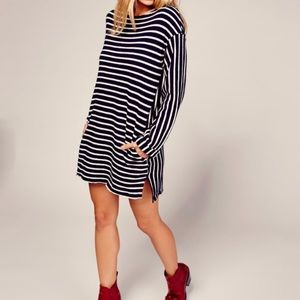 Free People   Come on Over Striped Tunic MiniDress